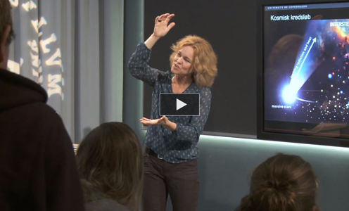Anja. C. Andersen lectures on the universe and stardust Niels Bohr Institute